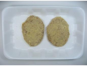 Hamburguesa de pollo y queso (bandeja de 2 ud)
